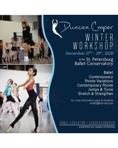 DUNCAN COOPER WINTER WORKSHOP 2020 - DEC. 27-29th