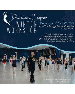 DUNCAN COOPER WINTER WORKSHOP - Dec 27th - 29th, 2021