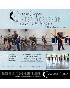 DUNCAN COOPER WINTER WORKSHOP - Dec. 27th-29th